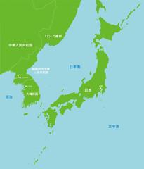 地図 / 北朝鮮と日本 極東地域