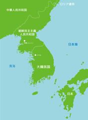 北朝鮮と周辺国地図
