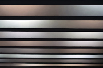 Black, white, gray stripes of different size, abstract background
