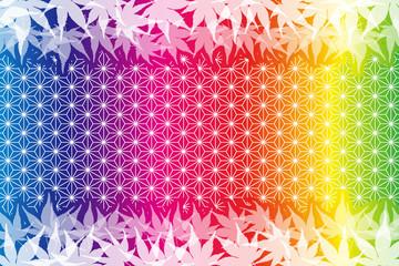 背景素材,秋,紅葉,和風イメージ,伝統模様,もみじ,いちょう,かえで,椛,銀杏,楓,タイトルスペース