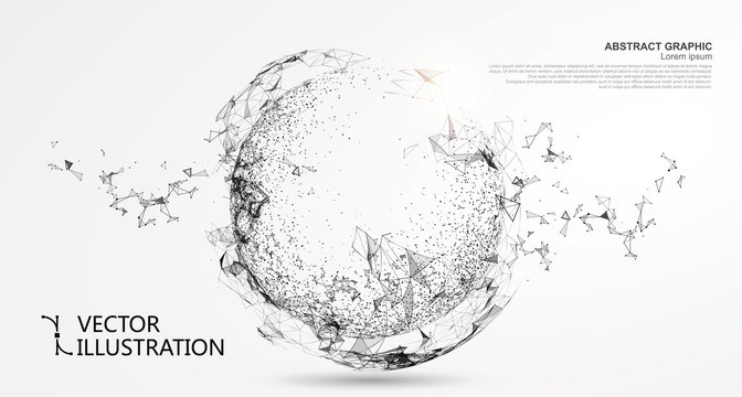 Abstract sphere, internet connection.