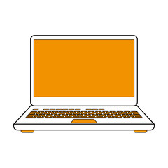 Download in laptop icon vector illustration graphic design