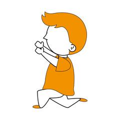 Little boy cartoon icon vector illustration graphic design