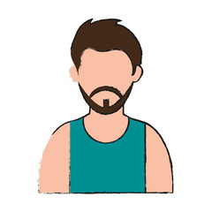 Man faceless cartoon icon vector illustration graphic design