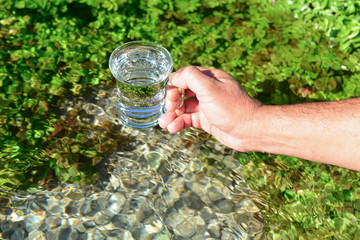 clean and cold spring water