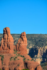 Towering sandstone cathedrals in Sedona