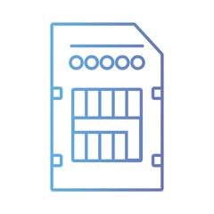 line technology micro sd data memory