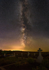Milky Way over the cemetery