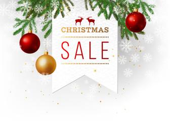 Christmas sale paper emblem