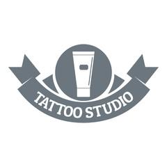 Tattoo studio logo, simple gray style