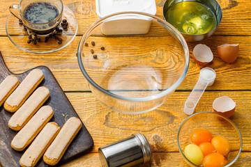 Picture of savoyardi cookies on cutting board