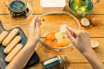 Image of savoyardi cookies on cutting board