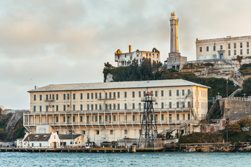alcatraz prison view, san francisco