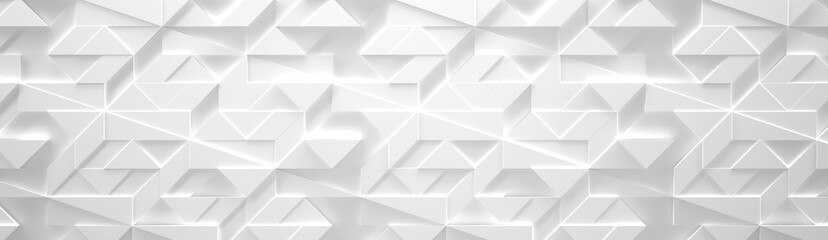 White Wide Futuristic Background (3d illustration)