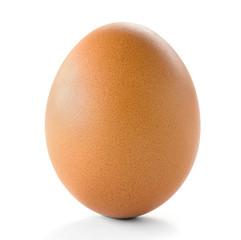 raw egg isolate on white background