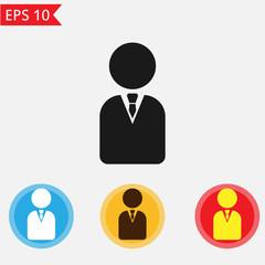 Businessman icon Vector.
