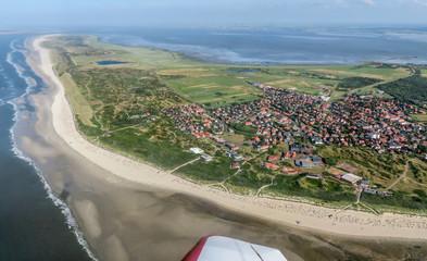Photo sur cadre textile La Mer du Nord Insel Langeoog, nordfriesische Inseln, Deutschland