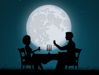 romantic dinner candlelight for two