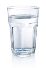 Glass of Water isolated on a white background