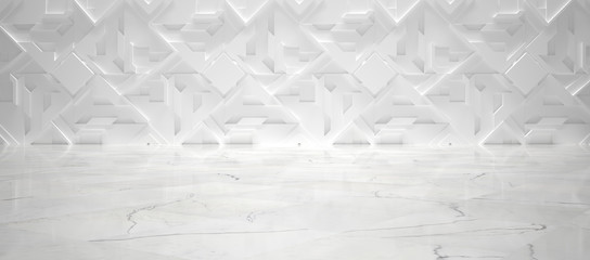 White Futuristic Interior (3d illustration)