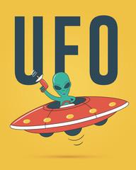 Alien spaceship. UFO