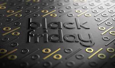 Wall Mural - Black Friday Event Sign