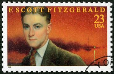 USA - 1996: shows Francis Scott Key Fitzgerald (1896-1940), series Literary Arts