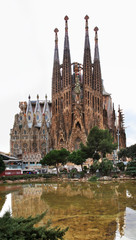 Basilica and Expiatory Church of Holy Family in Barcelona. Spain