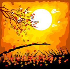Hello autumn. Fall under the moonlight