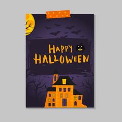 Cute vector Halloween postcard