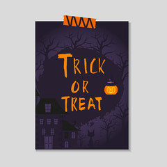 Cute vector Halloween postcard