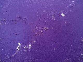 Dirty wall with broken cement plaster. Vintage surface texture. Rought painted wall background.