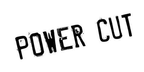 Power Cut rubber stamp. Grunge design with dust scratches. Effects can be easily removed for a clean, crisp look. Color is easily changed.