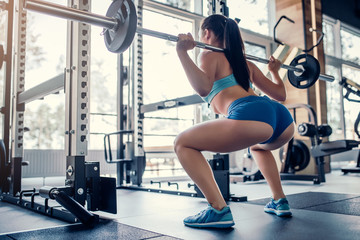 Sports woman in gym