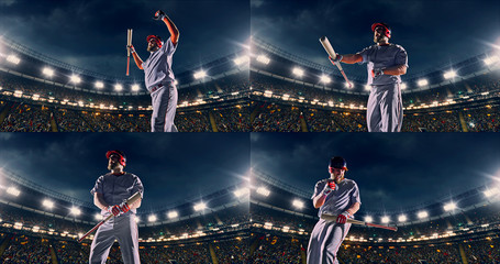 Baseball male player is happy
