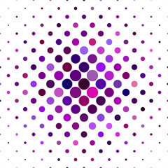 Purple dot pattern background - geometric vector graphic from circles
