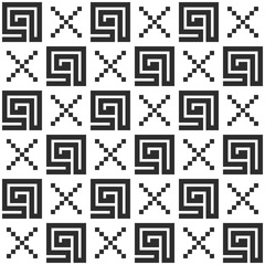 Seamless vector repeating pattern. Fashion textile print with greek design. Greece meander fabric background.