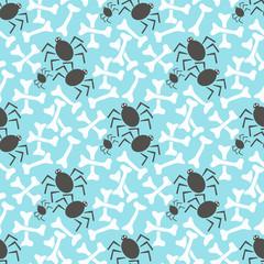 Seamless pattern with bone. Halloween background.
