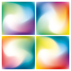 Abstract twist background set, rainbow mesh gradient, color pattern for you presentation, vector design wallpaper
