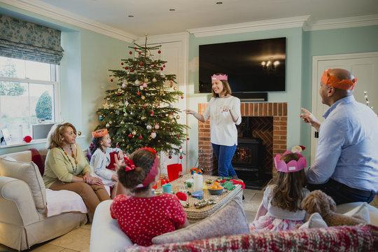Playing Charades At Christmas