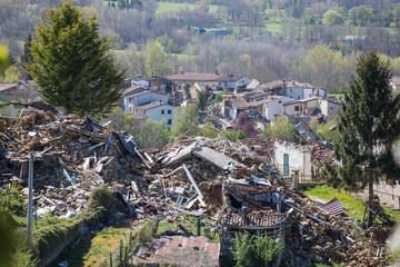 Earthquake center italy August 24, 2016. San Lorenzo