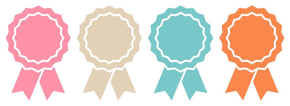 4 Award Badges Retro Graphic