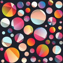 Funky circle seamless pattern