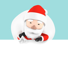 Santa Claus  blank advertisement banner background with copy space for text