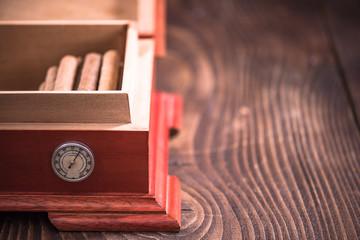 Wooden Cedr humidor, cigar storage