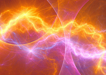 Hot burning fractal lightning