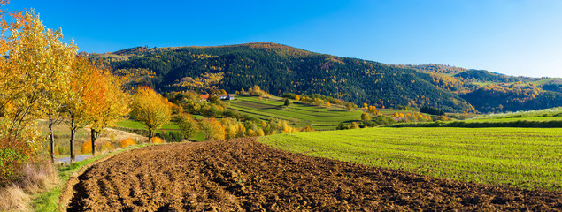 Hrinova autumn beautiful Slovakia countryside