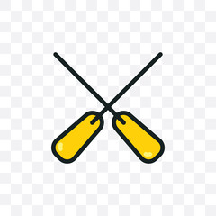 Paddle icon vector