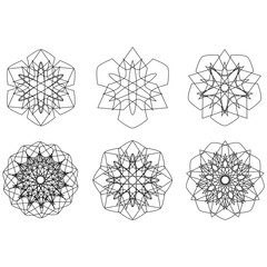Festive geometric pattern for gifts and holidays
