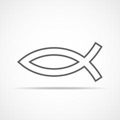 Christian fish icon. Vector illustration